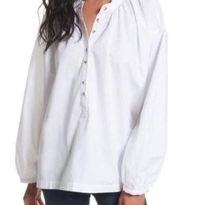 New Free People White  Oversized Shirt Large